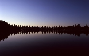 lake, reflection, water, nature, trees, landscape