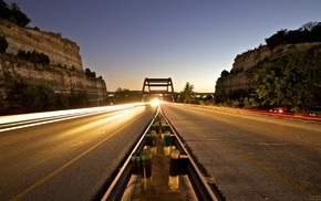photography, Austin Texas, cliff, highway, long exposure, road