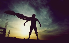 photography, cape, superhero, sunset, Superman, DC Comics