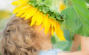 flowers, children, nature