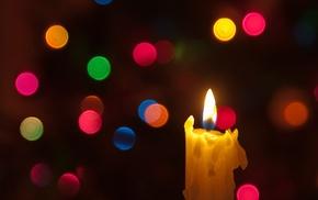 bokeh, candles