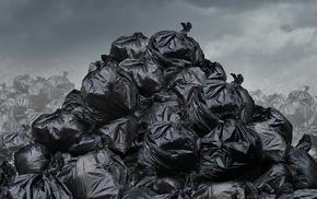 environment, trash, bag
