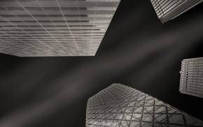 architecture, monochrome