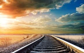 photography, colorful, railway, nature, landscape