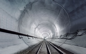 tunnel, railway, photography, architecture