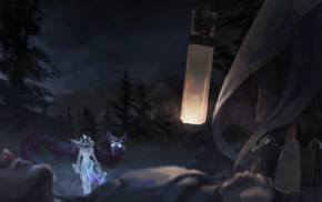 wolf, lamb, Kindred, Lucian League of Legends, Lucian, Kindred League of Legends