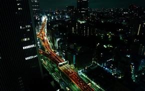 building, lights, urban, Tokyo, city, photography