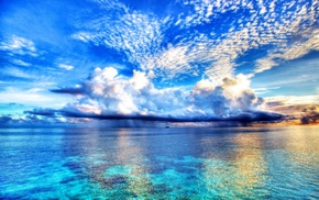 clouds, tropical, photography, landscape, water, nature