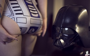 Undead Suicide, Darth Vader, tattoo, one, piece swimsuit, R2