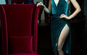 Lauren Cohan, actress, celebrity, portrait display, brunette, girl