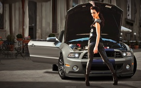 girl with cars, Sati Kazanova, Shelby GT500 Super Snake, car, girl