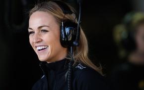Driver, Lotus, Formula 1, blonde, Carmen Jord, headsets