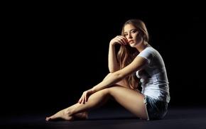 girl, model, sitting