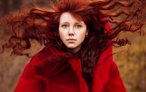 model, redhead, face, girl, Ann Nevreva