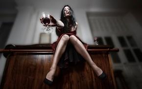 girl, legs, model, alcohol