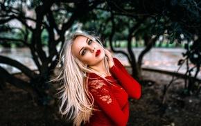 girl, blonde, model