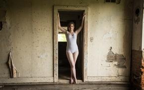 model, leotard, body lingerie, girl, ruin, armpits