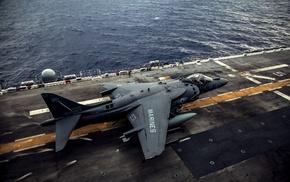 aircraft, aircraft carrier, military aircraft, AV, 8B Harrier II