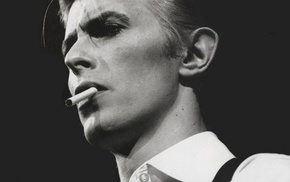 musician, David Bowie, smoking