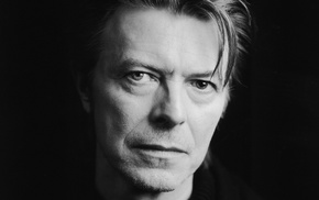 legends, musician, looking at viewer, celebrity, monochrome, David Bowie