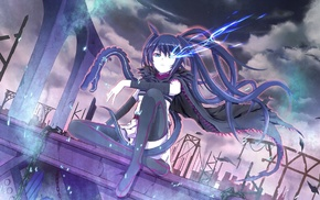 Black Rock Shooter, twintails, Kuroi Mato, anime