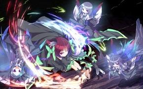 fairies, nekomimi, Touhou, Kaenbyou Rin, wings, zombies