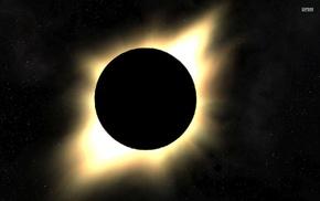 solar eclipse, space