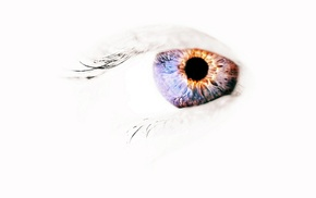 negative space, eyes