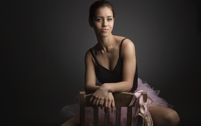 dancer, chair, model, budding boobs, girl, ballerina