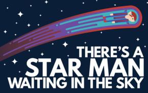 David Bowie, stars, Ziggy Stardust, space, sky, musician
