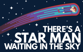 sky, Ziggy Stardust, space, musician, stars, David Bowie