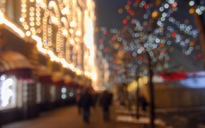 Russia, Christmas, horse, Moscow, North, christmas lights