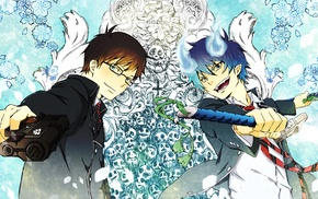 Okumura Yukio, Blue Exorcist, Okumura Rin, anime, demon