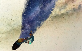 stars, space art, glitch art, space, surfboards, universe