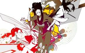Mugen, Samurai Champloo, Fuu, anime, Jin Samurai Champloo