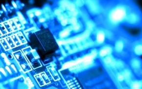 PCB, blue, microchip, technology, circuit boards