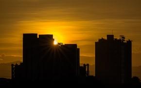 photography, building, city, sunset, urban