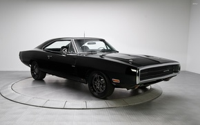 black, American cars, car, muscle cars, Dodge, Charger RT