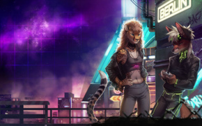 vintage, Anthro, cyberpunk, furry