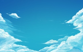 drawing, sky, clouds