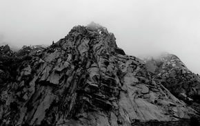 mountains, photography, nature, mist
