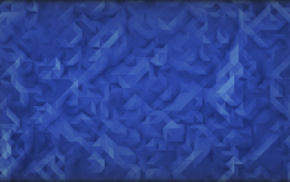 abstract, low poly, triangle, texture, simple, blue background