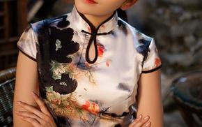 girl, qipao, China