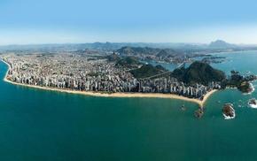 city, photography, sea, Brazil, water, cityscape