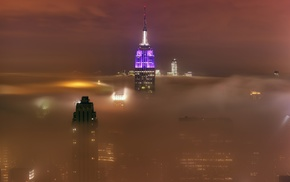 urban, skyscraper, landscape, photography, New York City, mist