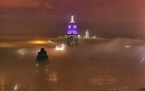 urban, skyscraper, landscape, photography, New York City, mist