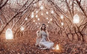 lantern, girl