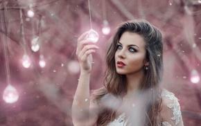 lamp, model, girl