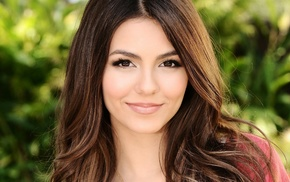 girl, Victoria Justice, looking at viewer, portrait, brunette, actress