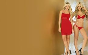 model, lingerie, high heels, Daniela Sanchez, blonde, Sandra Valencia